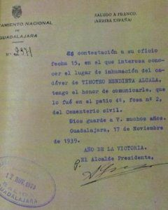 doc inhumacion Timoteo Mendieta